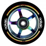 NoKaic Ruedas 100mm Pack (2u.) - Negro/Tornasol
