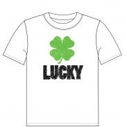 LUCKY CAMISETA LOGO - BLANCO (JUNIOR 14)