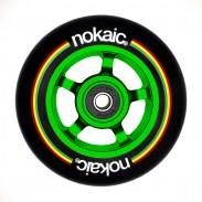 NoKaic Ruedas 100mm Pack (2u.) - Negro/Verde