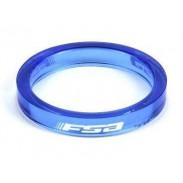 """FSA Spacer 1/8"""" 5mm - Azul"""
